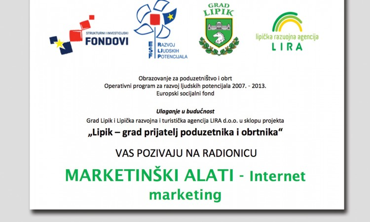 Promo članak -    Poziv na radionicu internet marketinga