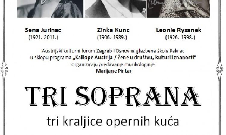 OGŠ PAKRAC   Predavanje o tri vrhunske sopranistice