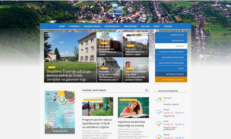 Grad Pakrac ima novu gradsku stranicu: Nove mogućnosti za građane