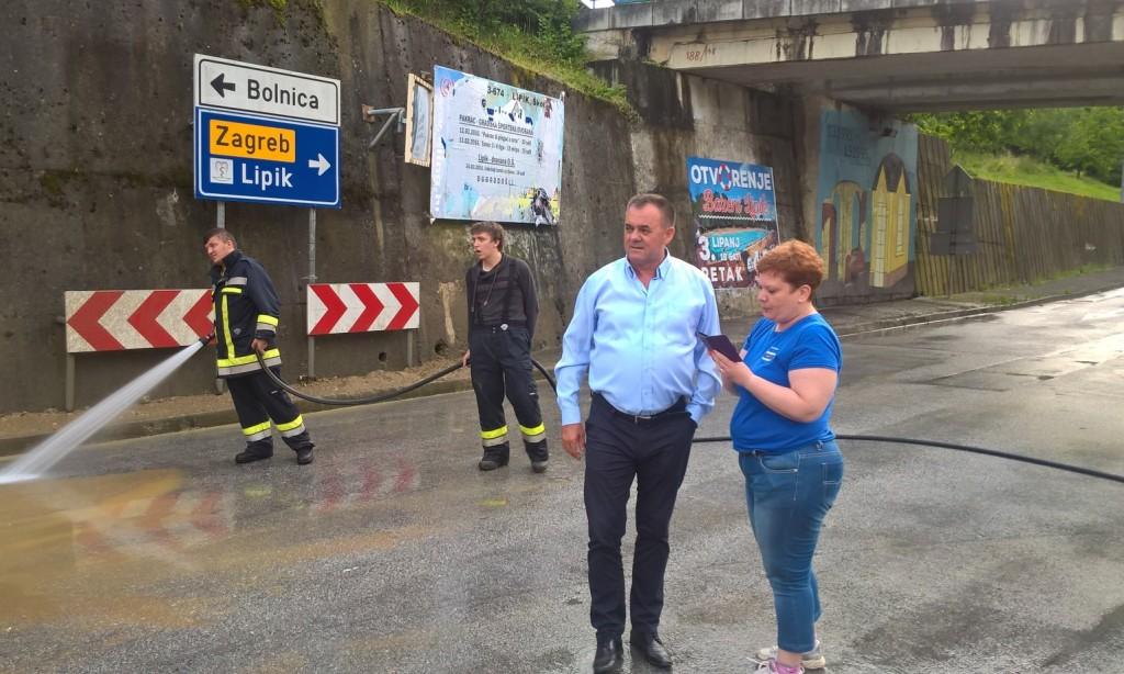 Župan Tomašević obišao nevremenom stradala mjesta
