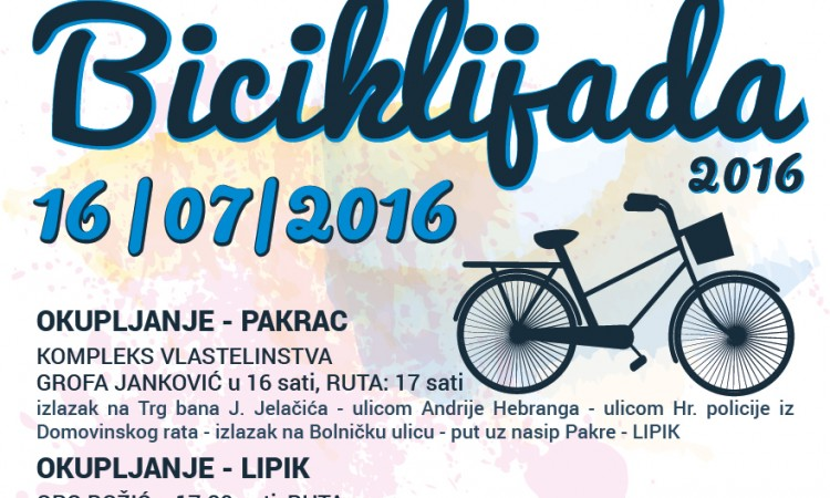 TZ Pakraca i Lipika: Biciklijada starta 16. srpnja