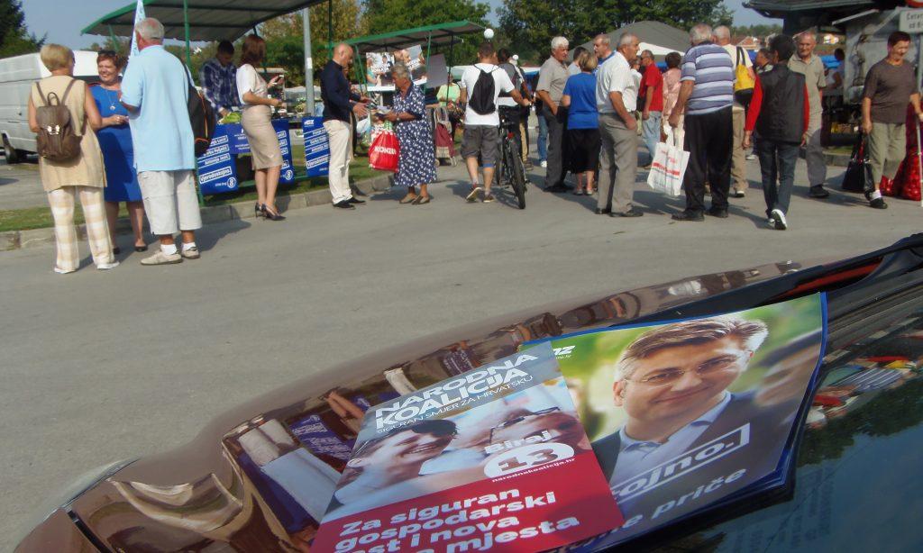HDZ I NARODNA KOALICIJA: Izborni kandidati na pakračkoj tržnici