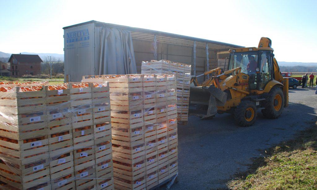 DONACIJA IZ OPUZENA: Za Pakrac i Lipik 24 tone mandarina