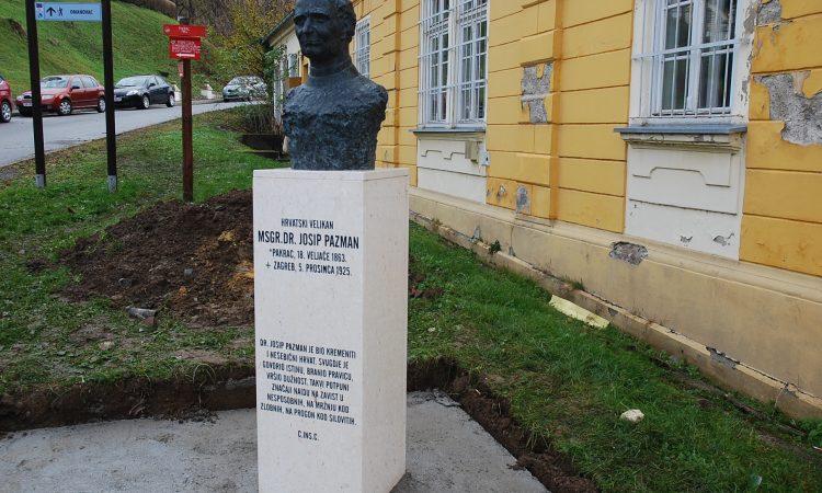 U SJEĆANJE NA ISTAKNUTOG PAKRAČANINA: Postavljena bista dr. Josipa Pazmana