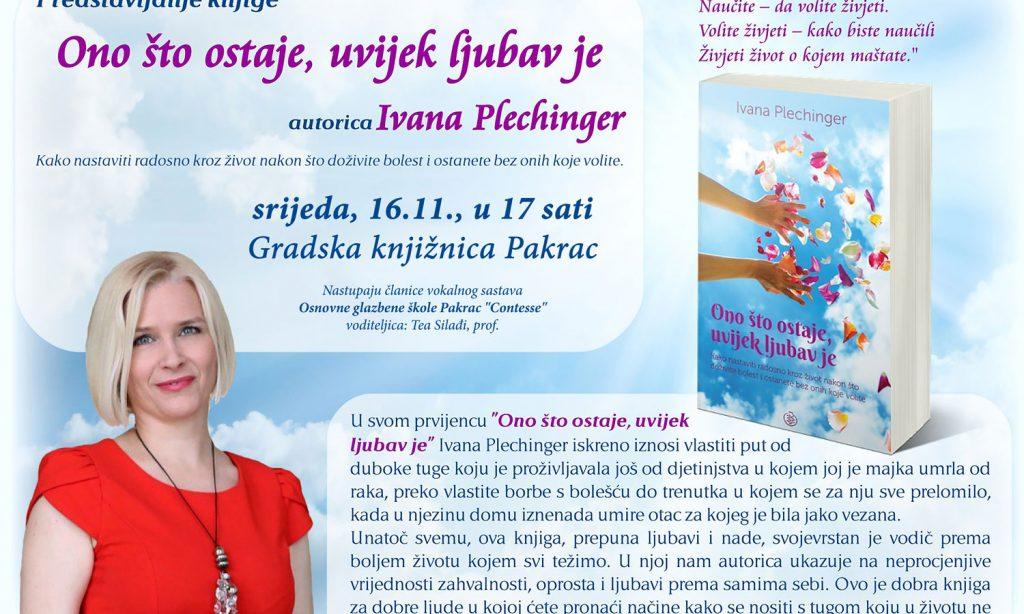 GRADSKA KNJIŽNICA PAKRAC: Predstavljanje knjige Ivane Plechinger