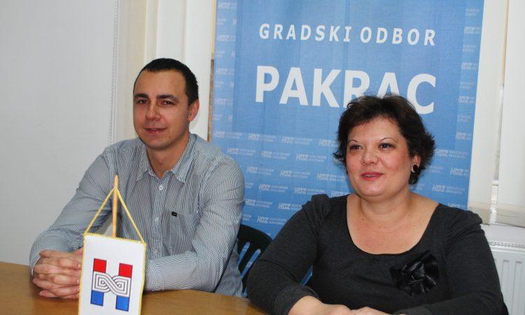 KANDIDATI HDZ:A. Blažević za gradonačelnicu, M. Širac za zamjenika