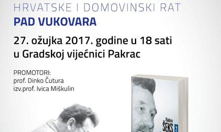 """Promocija knjige Vladimira Šeksa """"1991. – Moja sjećanja na stvaranje Hrvatske i Domovinski rat"""""""