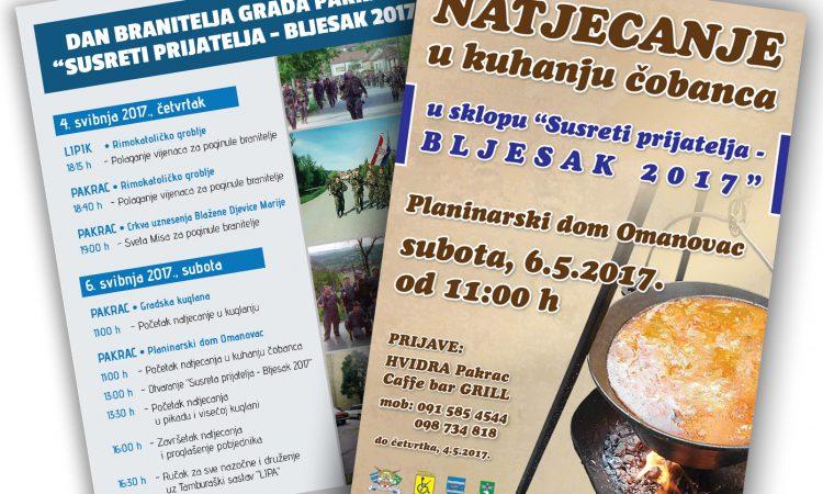 """NAJAVA """"Susreti prijatelja – Bljesak 2017."""""""