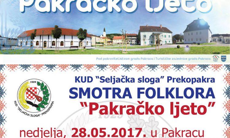 """KUD """"SELJAČKA SLOGA"""": U nedjelju 6. smotra folklora """"Pakračko ljeto"""""""