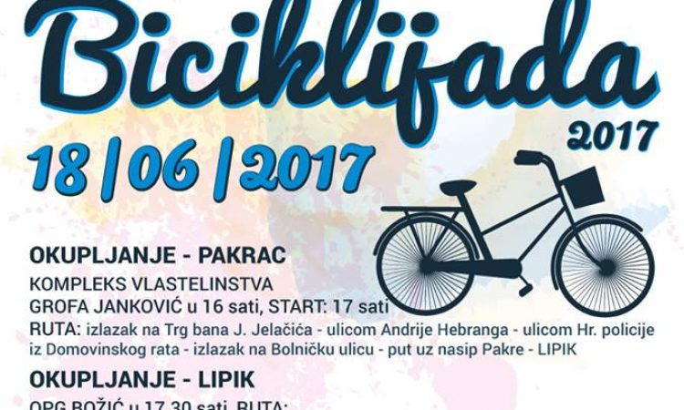 """PAKRAČKO LJETO Glazbene večeri i """"Biciklijada 2017"""""""