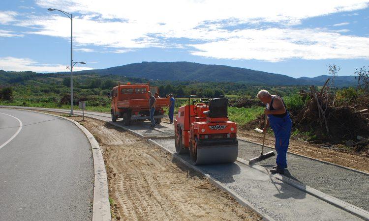 NOVI PAKRAČKI NOGOSTUPI  Idući tjedan asfaltiranje