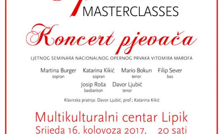 """""""OPERA MASTERCLASSES"""" Večeras završni koncert opernih pjevača"""
