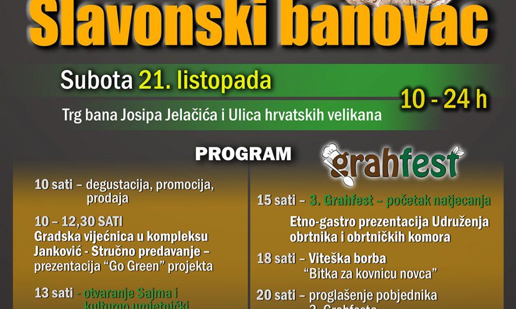 """9. SAJAM SLAVONSKI BANOVAC U PAKRACU Stručna predavanja, Grahfest, viteške borbe i koncert """"Učiteljica"""""""