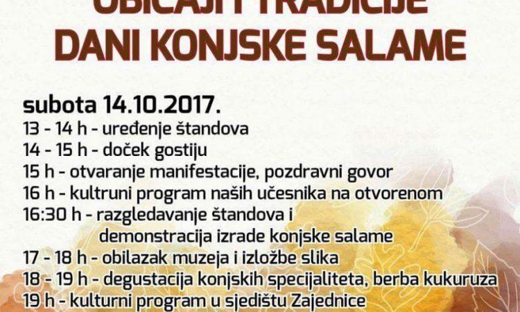 JESEN U NAŠEM KRAJU 2017 Subota u Ploštinama u znaku konjske salame