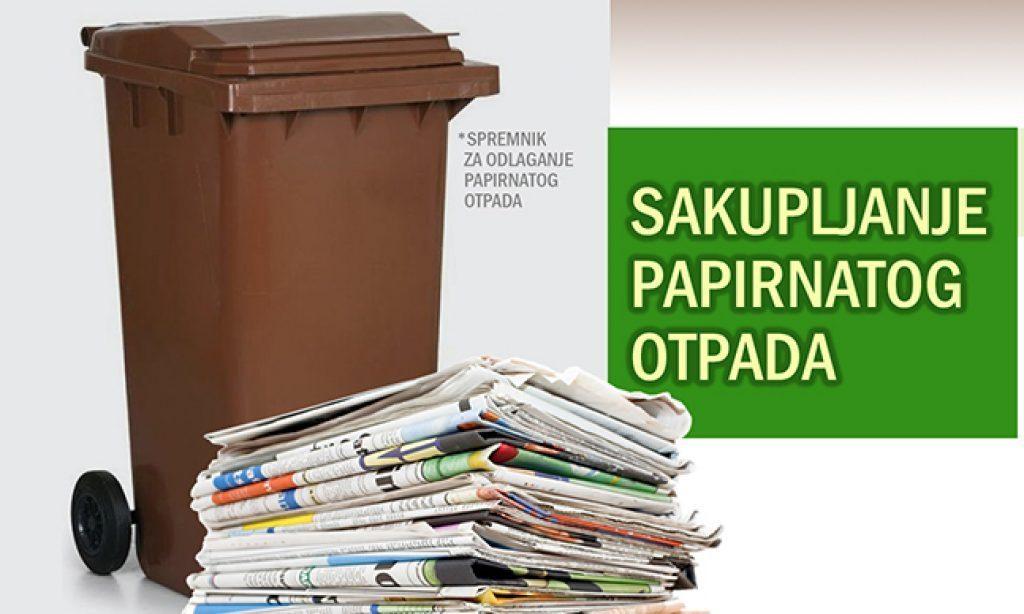 KOMUNALAC Raspored odvožnje papirnatog otpada