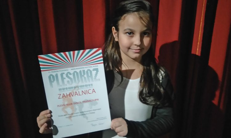 PLESNI KLUB DOLCE Zapažen nastup Anje Gurdon na Plesokazu