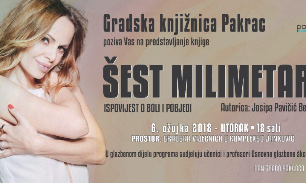 DAN GRADA PAKRACA Predstavljanje knjige Josipe Pavičić Berardini