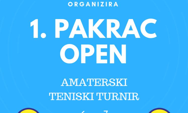 1. PAKRAC OPEN-AMATERSKI TURNIR Prijave do 2. listopada