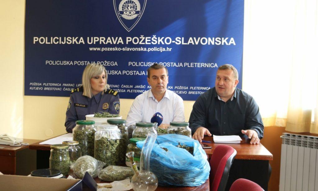 TISKOVNA KONFERENCIJA POLICIJE U Pakracu uzgajali marihuanu