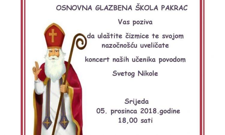 OGŠ PAKRAC Koncert povodom sv. Nikole