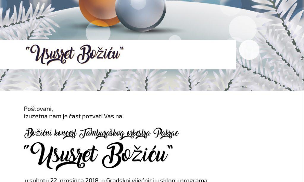 22. PROSINCA Božićni koncert Tamburaškog orkestra Pakrac