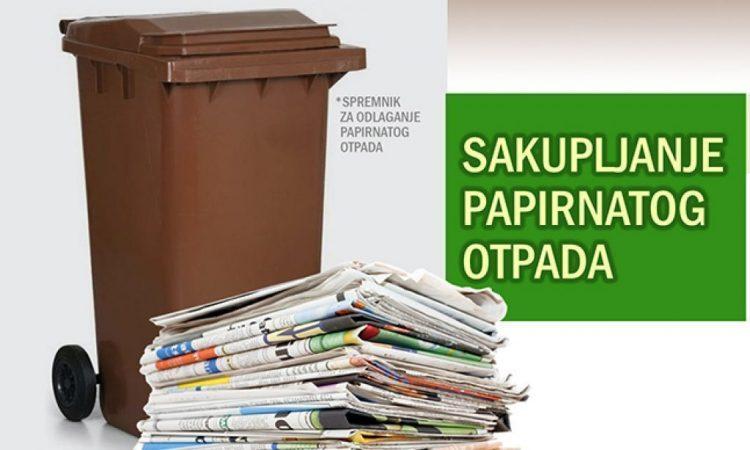 KOMUNALAC Raspored sakupljanja papirnatog otpada za pakračko područje