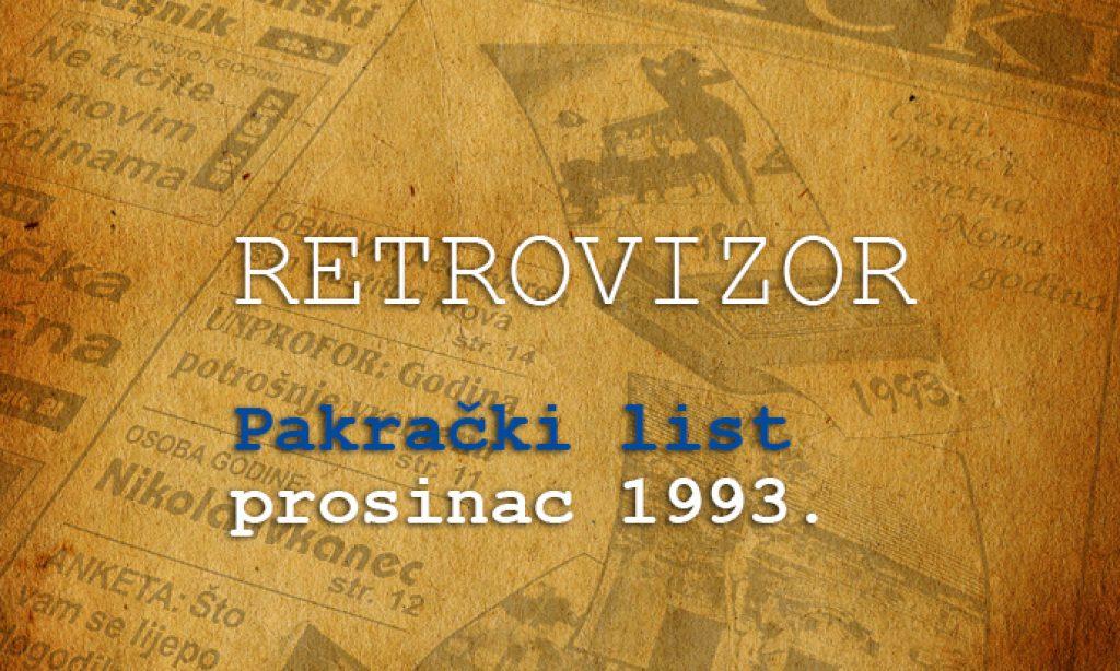 RETROVIZOR: PROSINAC 1993. GODINE Ostvarene i neostvarene želje