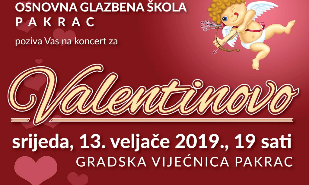 OGŠ PAKRAC Koncert  povodom Valentinova