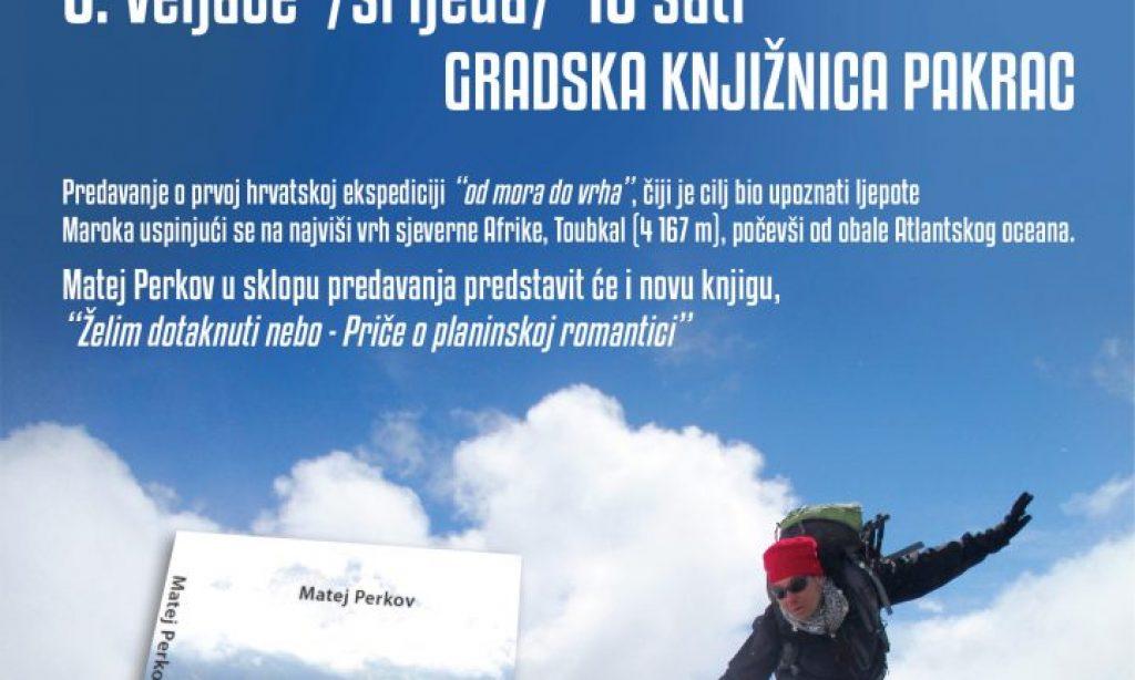 GRADSKA KNJIŽNICA PAKRAC Putopisno predavanje Mateja Perkova