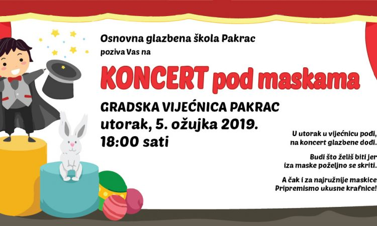 OGŠ PAKRAC Koncert pod maskama
