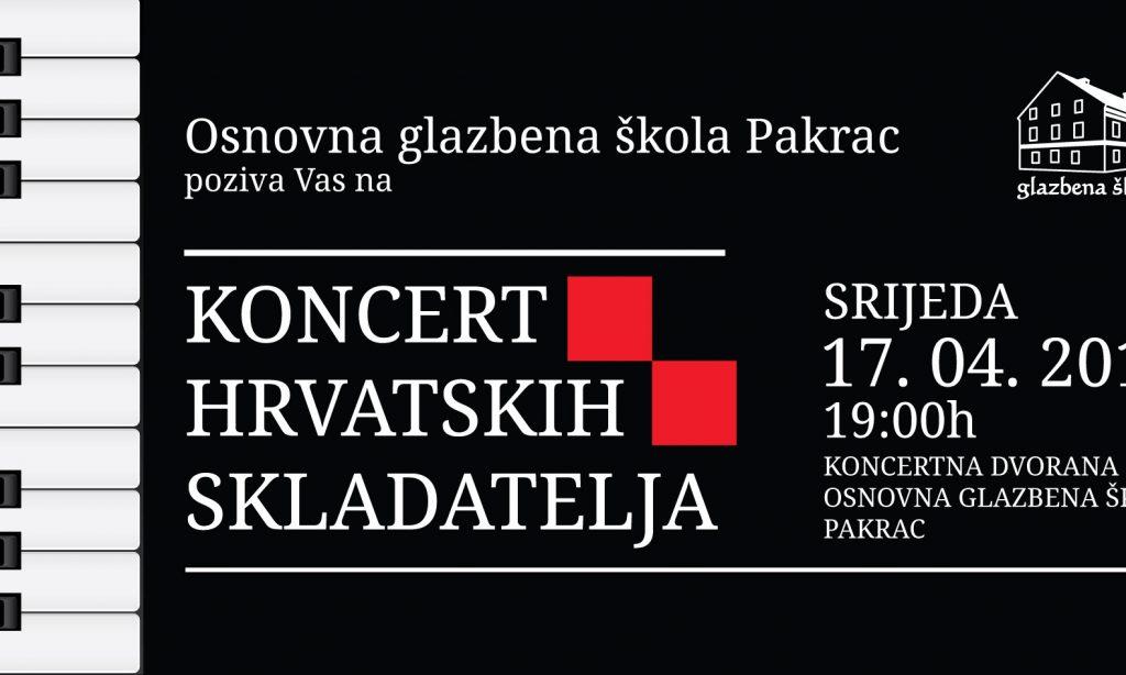 OGŠ PAKRAC Koncert hrvatskih skladatelja