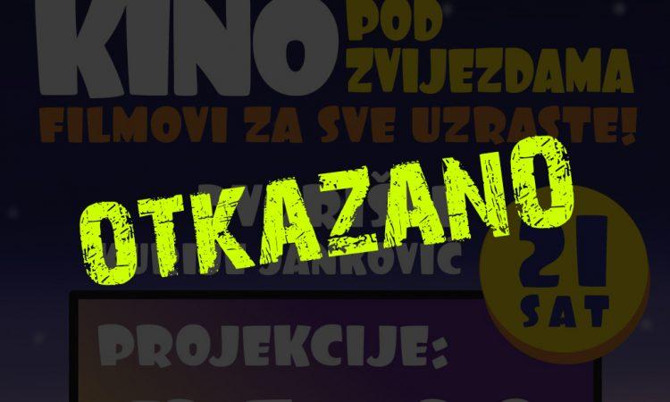 ZBOG LOŠEG VREMENA Otkazana prva filmska večer!