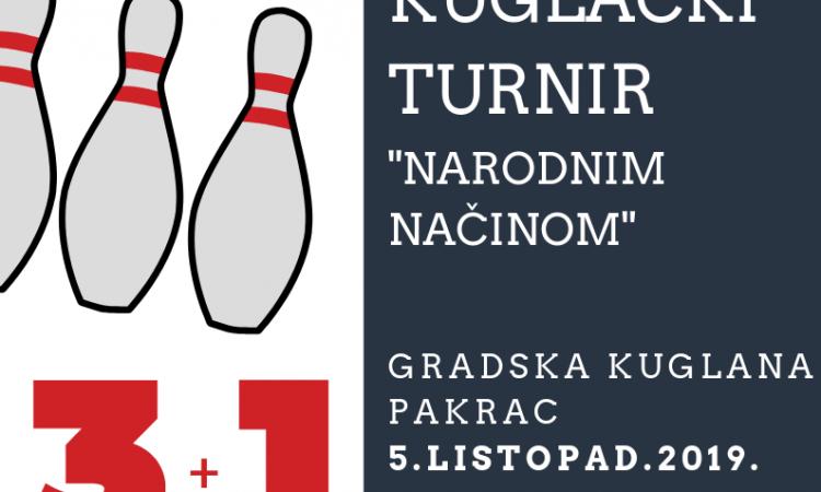 """KUGLANJE Turnir """"narodnim načinom"""" 5. listopada"""