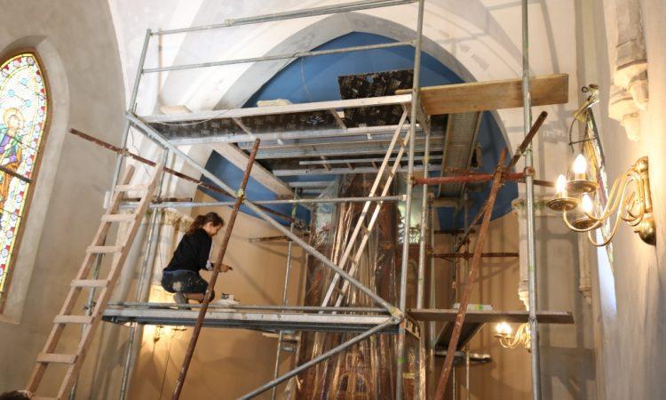 KAPELICA SV. IVANA NEPOMUKA Počeli radovi na oslikavanju zidova