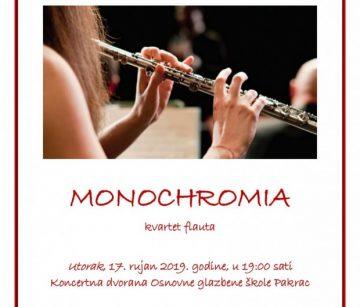 OGŠ PAKRAC Koncert MONOCHROMIA – kvartet flauta