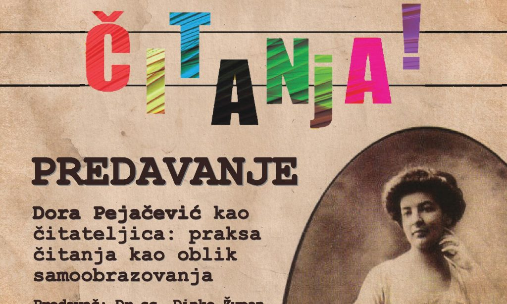 GRADSKA KNJIŽNICA PAKRAC Predavanje o Dori Pejačević kao čitateljici
