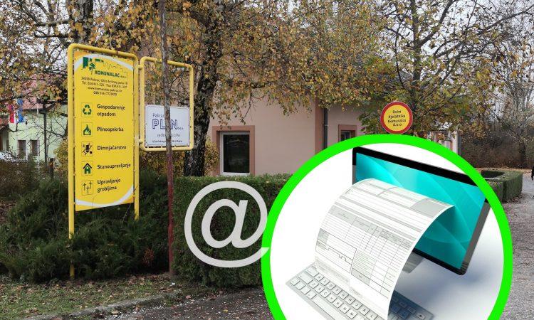 NOVOST U KOMUNALCU Omogućena distribucija računa e-poštom