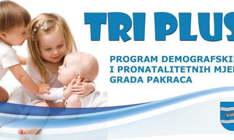 "GRAD PAKRAC Nastavak programa ""Tri plus"""