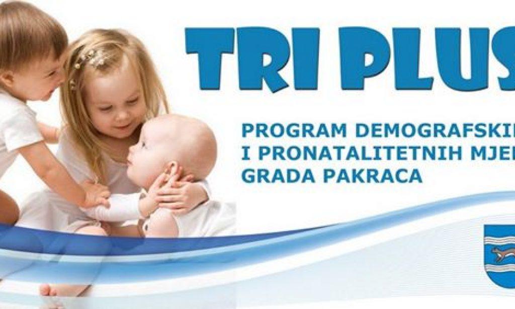 """GRAD PAKRAC Najava javnog poziva programa """"Tri plus"""""""
