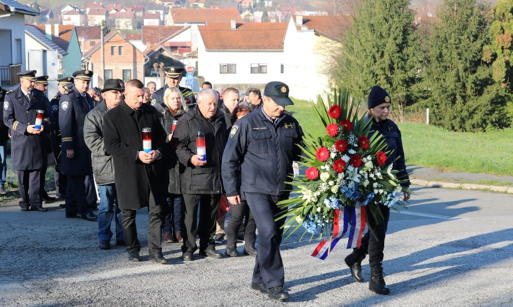 U ULICI KALVARIJA  Obilježena 28. obljetnica pogibije virovitičkih policajaca