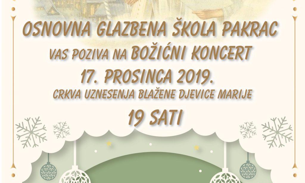 OSNOVNA GLAZBENA ŠKOLA PAKRAC Božićni koncert učenika