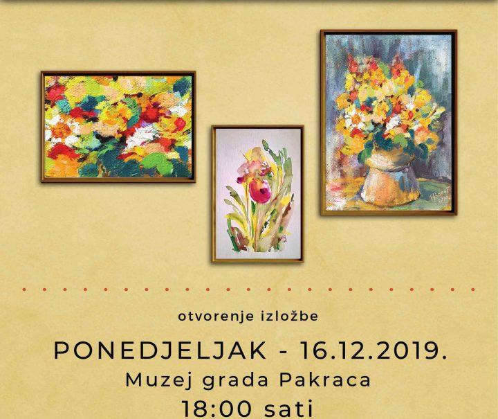 """MUZEJ GRADA PAKRACA Izložba """"Život u bojama"""" slikarice Mire Boroš"""