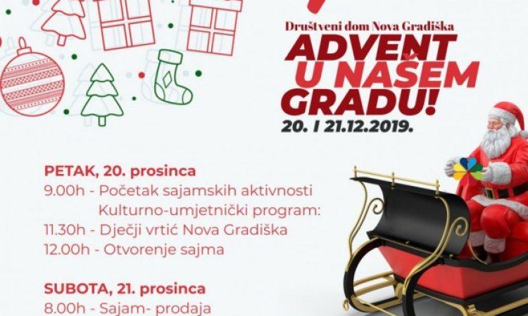 """DOBRO DOŠLI NA """"ADVENT U NAŠEM GRADU"""" 13.izdanje tradicionalnog novogradiškog božićnog sajma"""