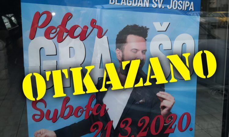 PREPORUKA STOŽERA CZ Otkazan koncert Petra Graše