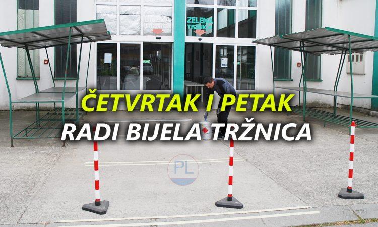 PONOVO RADI TRŽNICA U četvrtak i petak radi bijela tržnica!