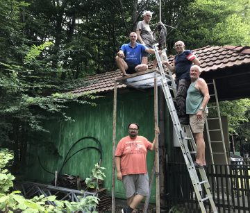 """RK """"VJEKOSLAV KRENEK"""" PAKRAC Združena akcija montiranja antenskog sustava"""