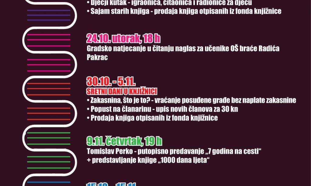 Gradska knjižnica Pakrac obilježava Mjesec hrvatske knjige